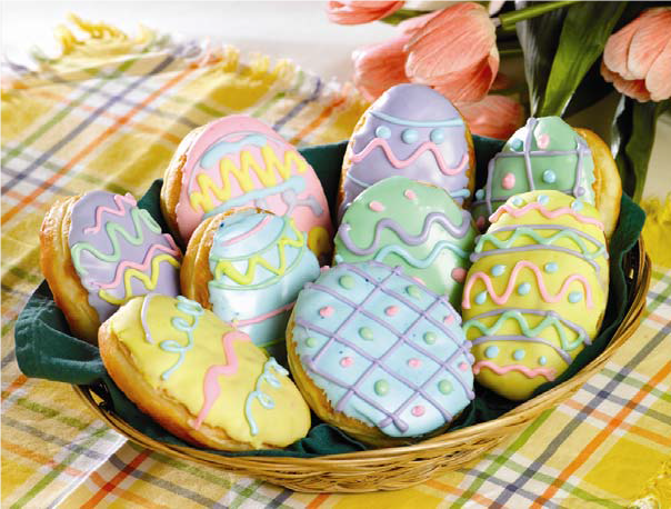 Easter Egg Donuts