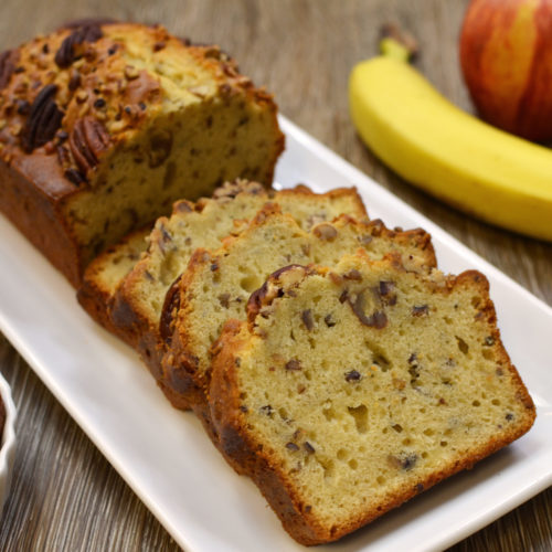 Apple Pecan Banana Bread