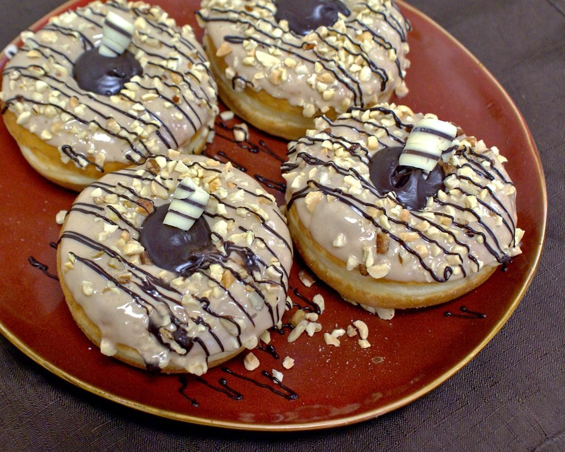 Caramel Chocolate Delight Donuts