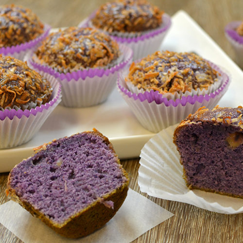 Ube Pineapple Muffins