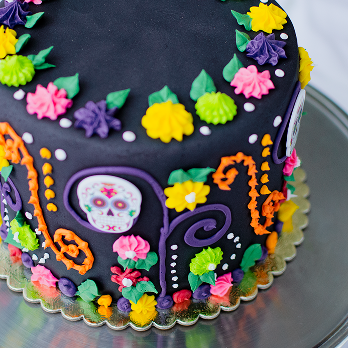holiday recipes, dia de los muertos cake