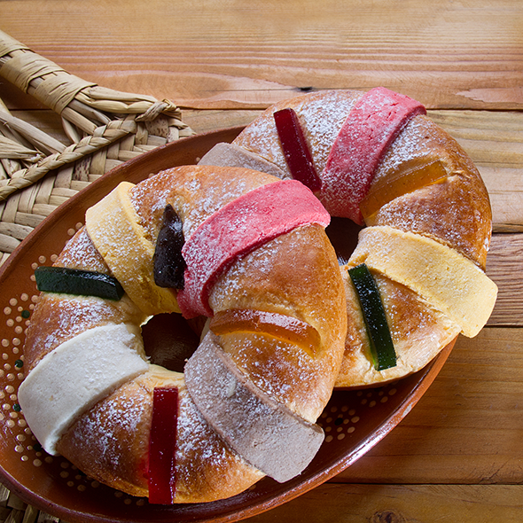 holiday recipes, rosca de reyes