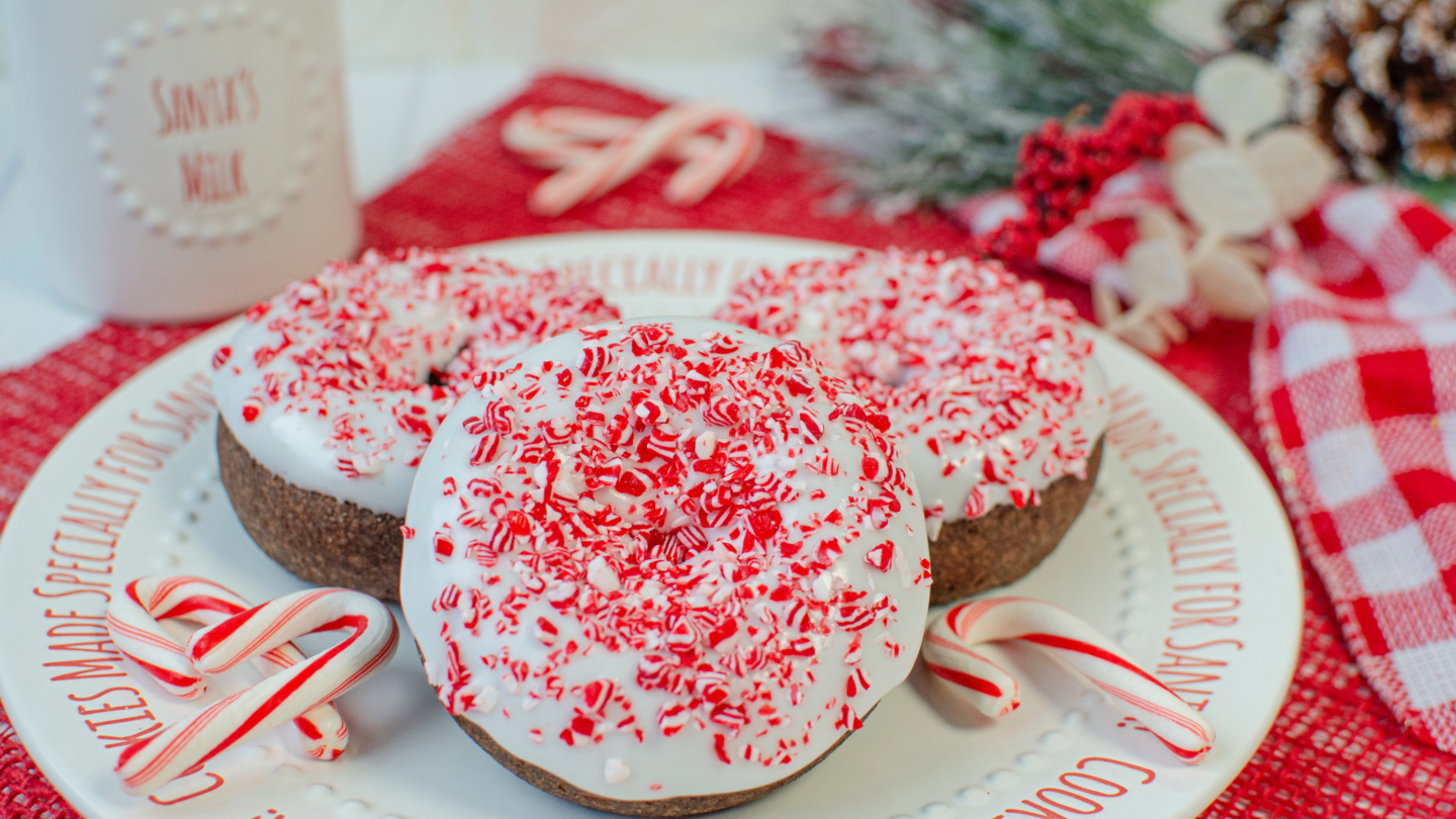 Peppermint Chocolate Donuts