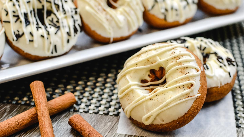 Eggnog Donuts